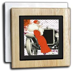 """3dRose nh_223467_1 """"Image of Art Deco Lady In Red Leaning on"""