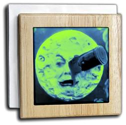 """3dRose nh_240551_1""""A Trip to The Moon vintage Funky Martian"""