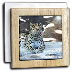 3dRose nh_3884_1 Leopard - Tile Napkin Holder, 6-inch