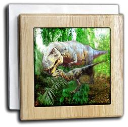 3dRose nh_4096_1 Dinosaurs - Tile Napkin Holder, 6-inch
