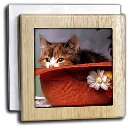 3dRose nh_786_1 Love You Cat In The Hat - Tile Napkin Holder