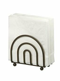 Home Basics NH40923 Flat Wire Napkin Holder, Bronze
