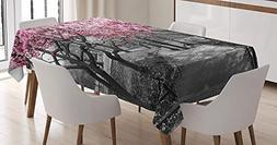 CHARMHOME NYC Cotton Linen Tablecloth, Dining Room Kitchen R