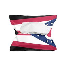 CoolPrintAll Ohio State Flag Tissue Box Cover Paper Napkin H