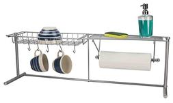 Home Basics NEW Over The Sink Kitchen Station Paper Towel Ho