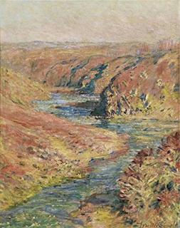Oil Painting 'Claude Monet - The Valley Of The Creuse At Fre