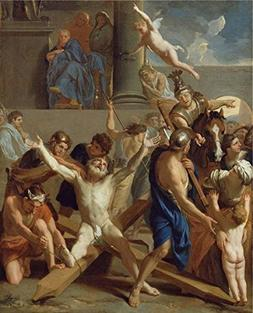 Oil Painting 'The Martyrdom Of St. Andrew,1647 By Charles Le