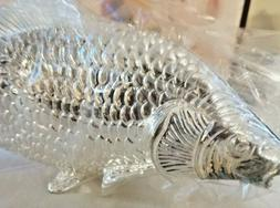 Pair  Silver plated Fish Napkin / Letter Holder 9 x 4  Made