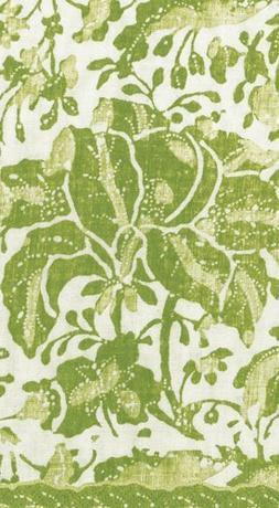 Paper Guest Towels Country Rustic Christmas Decor Green Wash