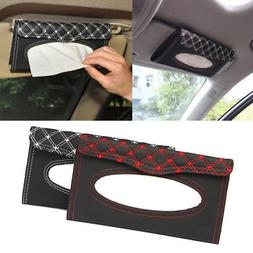 Paper Towel Napkin Holder Box Tissue Case Cover For Car Sun