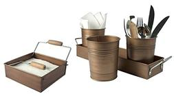 Artland Partyware Metal Napkin Holder and Picnic Caddy Set -