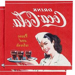 Pause and Refresh Waitress Coca-Cola Paper Luncheon Napkin P