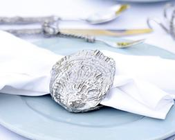 """Vagabond House Pewter Clam Shell Napkin Ring 3"""" Long x 3"""" W"""