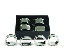 Vagabond House Pewter Classic Napkin Ring Set  1.25 Wide x 2