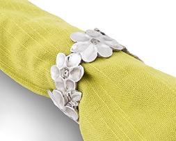Vagabond House Pewter Lilacs Flower Napkin Ring 1.5 Inches D