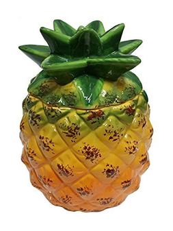 Pineapple Ceramic Hand Painted Kitchen Cookie Jar