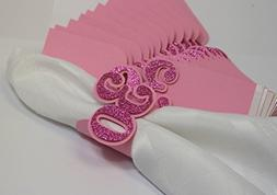 All About Details Pink 30 Napkin Holders, 12pcs