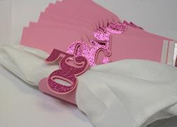 All About Details Pink 50 Napkin Holders, 12pcs
