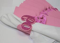 All About Details Pink 60 Napkin Holders, 12pcs