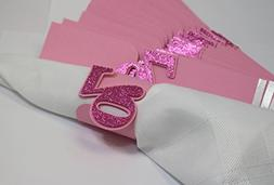 All About Details Pink 70 Napkin Holders, 12pcs