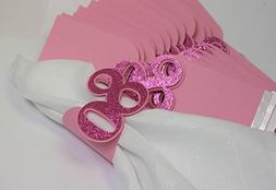 All About Details Pink 80 Napkin Holders, 12pcs