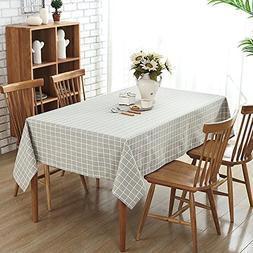 Wimaha 52x70In Check Plaid Rectangle Tablecloth for Rectangu