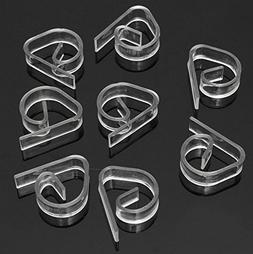 Blabroge 8pcs Plastic Clear Tablecloth Table Cover Clips Hol