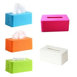 Plastic facial tissue napkin box toilet paper dispenser case