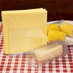 Plastic Napkin Holder & Butter Dish Set~~NEW