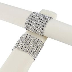 Plastic Rhinestone Napkin Rings cum Holder for Chairs Sash B