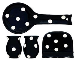 4 Piece Polka Dots Stove Top Set
