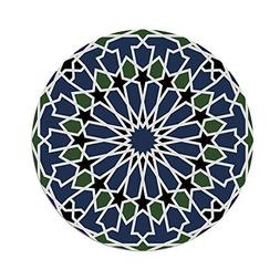 Polyester Round Tablecloth,Arabic,Mandala Inspired Arabesque