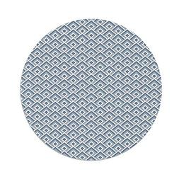 iPrint Polyester Round Tablecloth,Geometric,Diagonal Entwine