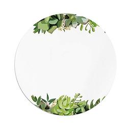 iPrint Polyester Round Tablecloth,Succulent,Cactus Flower Ga