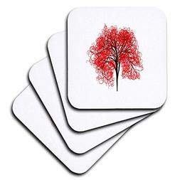 3dRose Pop Tree Designs - Image of Red Tree Stands Alone - s