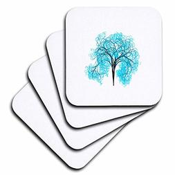 3dRose Pop Tree Designs - Image of Turquoise Tree Stands Alo