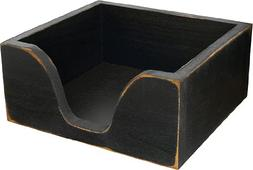Primitive Wood Napkin Holder - Black
