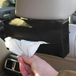 1X Leather Tissue Box Cover Pumping Paper Hotel Car Home Nap