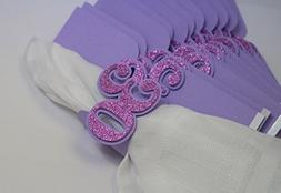 All About Details Purple 30 Napkin Holders, 12pcs