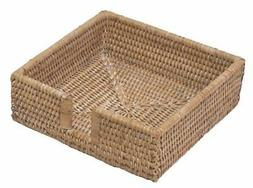 Entertaining with Caspari Rattan Luncheon Napkin Holder, Nat