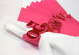 All About Details Red 50 Napkin Holders, 12pcs