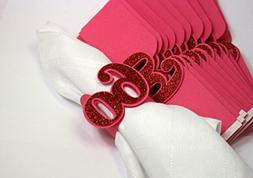 All About Details Red 60 Napkin Holders, 12pcs