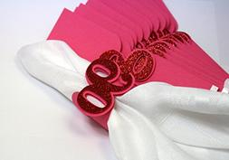 All About Details Red 90 Napkin Holders, 12pcs
