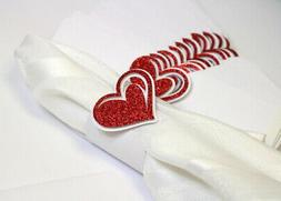 All About Details Red Heart Napkin Holders