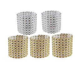 Aytai Rhinestone Mesh Bling Napkin Rings for Wedding Decorat