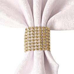 Rhinestone Napkin Rings Wedding Adornment, Napkin Holder for