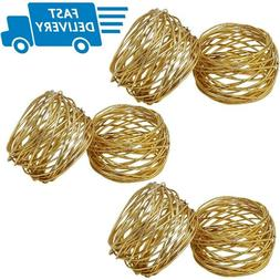 Rings For Napkins Golden Mesh Napkin Ring Set Dinner Towel H