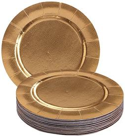 DISPOSABLE ROUND CHARGER PLATES - 20pc