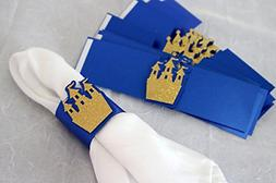 All About Details Royal Blue & Gold Prince Theme Napkin Hold