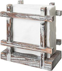 Rustic Barnwood Upright Napkin Holder Table Top Paper Towel